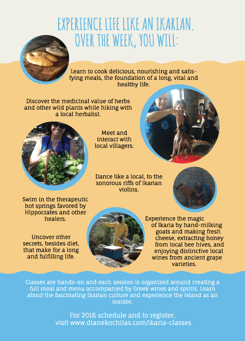 Ikaria food lessons from Diane Kochilas flyer